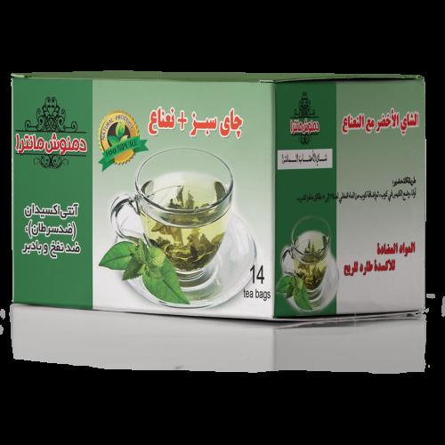 دمنوش گیاهی چای سبز و نعناع